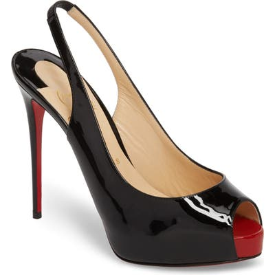 Christian Louboutin Private Number Peep Toe Pump