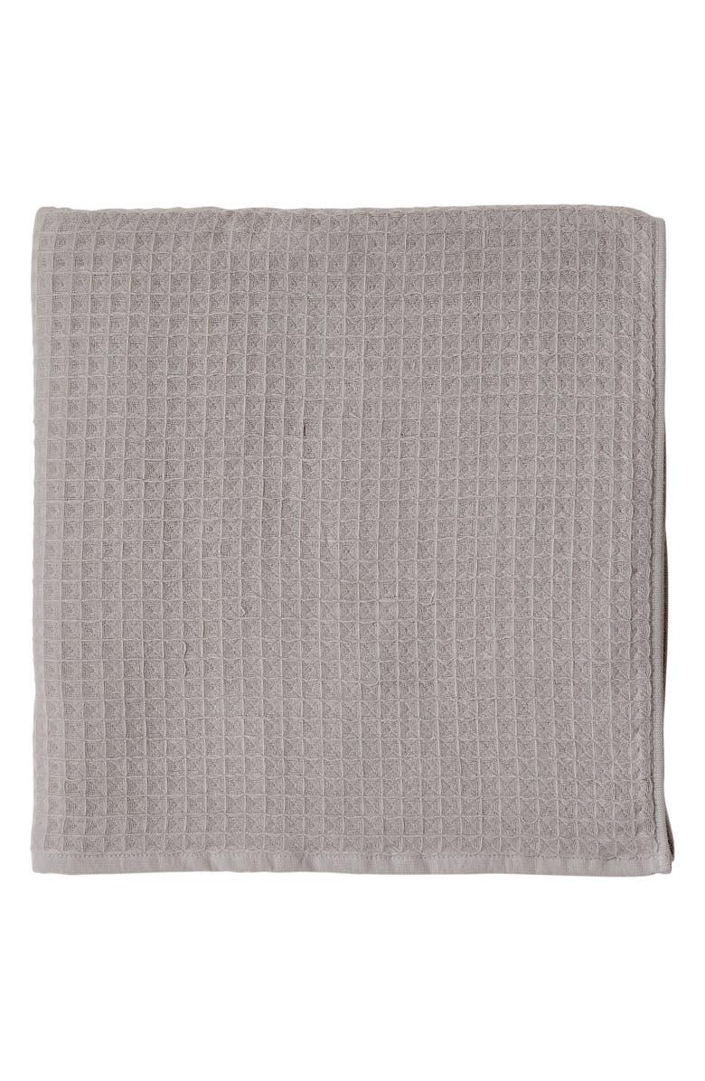 UCHINO Waffle Bath Towel, Main, color, GREY