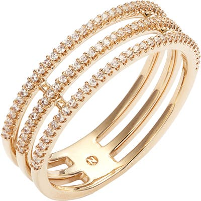 Nadri Triple Row Pave Ring