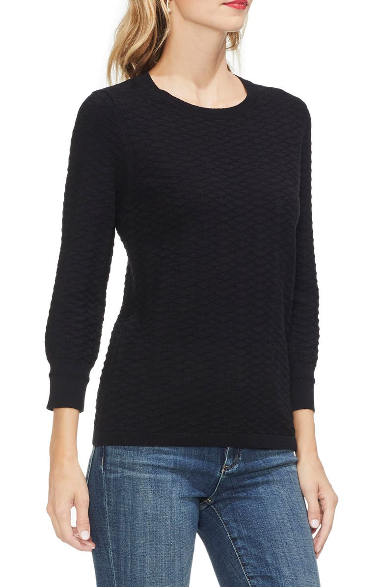 VINCE CAMUTO Rhombus Stitch Sweater, Main, color, 006