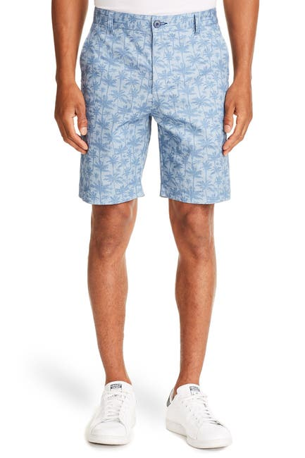 Image of CONSTRUCT Palm Tree Printed Shorts