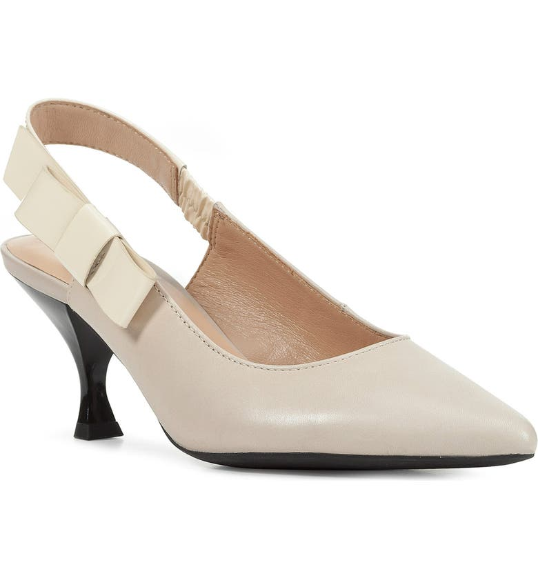 GEOX Elisangel Slingback Pump, Main, color, CREAM LEATHER