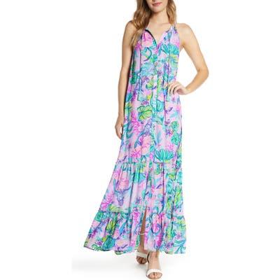 Lilly Pulitzer Luliana Button Front Maxi Dress, Purple