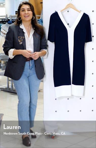 Colorblock Milano Knit Sheath Dress, sales video thumbnail