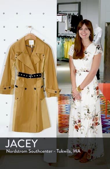 Colorblock Cotton Trench Coat, sales video thumbnail