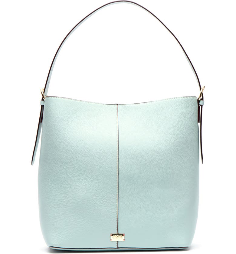 FRANCES VALENTINE Large Leather Shoulder Bag, Main, color, LIGHT BLUE