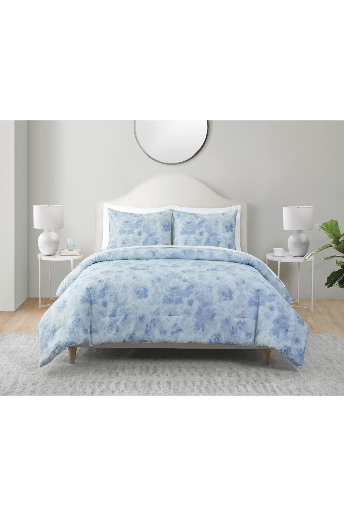 Image of VCNY HOME Tahari Bayberry 3 Piece Comforter Set - Blue - Full/Queen