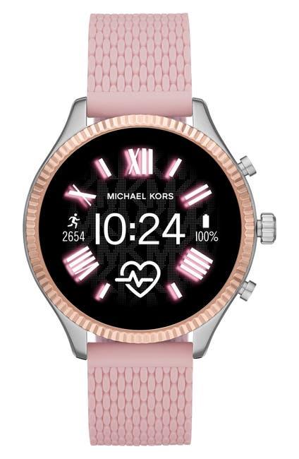 Image of Michael Kors Gen 5 Lexington Silicone Strap Smartwatch, 44mm