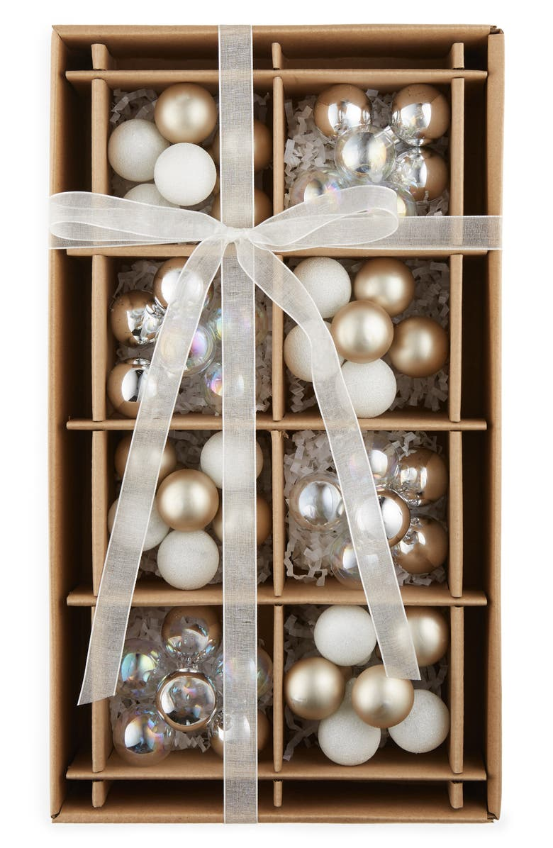 KAT + ANNIE Set of 8 Cluster Ball Ornaments, Main, color, 040