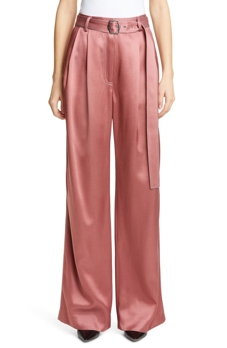 SIES MARJAN Blanche Wide Leg Twill Pants, Main, color, BLUSH