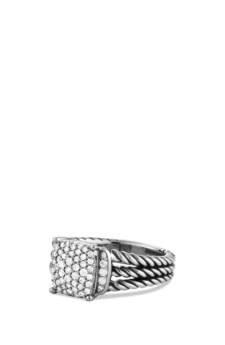 DAVID YURMAN Wheaton Petite Ring with Diamonds, Main, color, DIAMOND