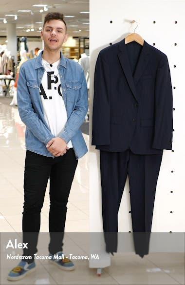 Huge/Genius Trim Fit Stripe Wool Suit, sales video thumbnail