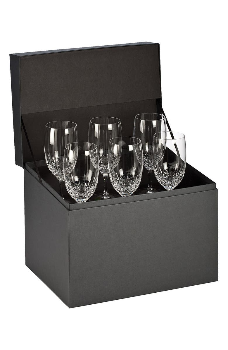 WATERFORD 'Lismore Essence' Lead Crystal Iced Beverage Glasses, Main, color, 100
