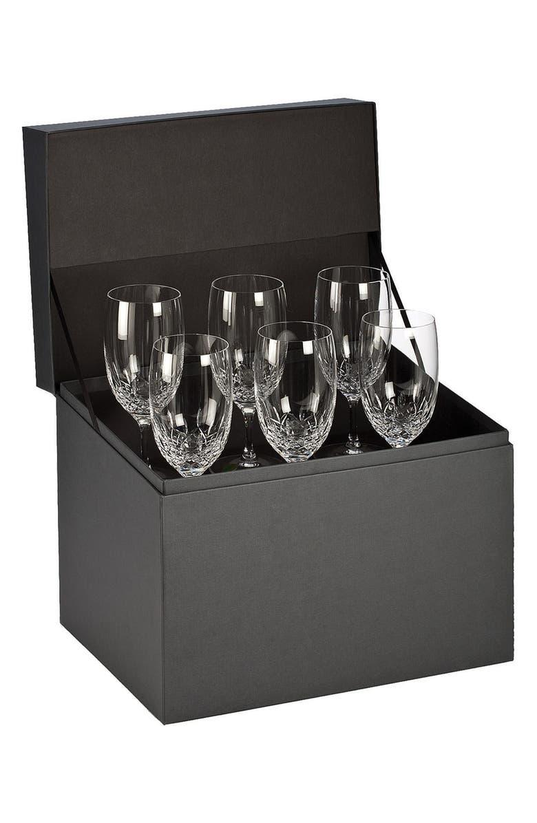 Waterford Lismore Essence Lead Crystal Iced Beverage Glasses Set Of 6