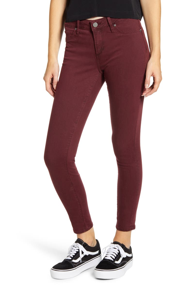 ARTICLES OF SOCIETY Heather High Waist Ankle Skinny Jeans, Main, color, BOWLEN