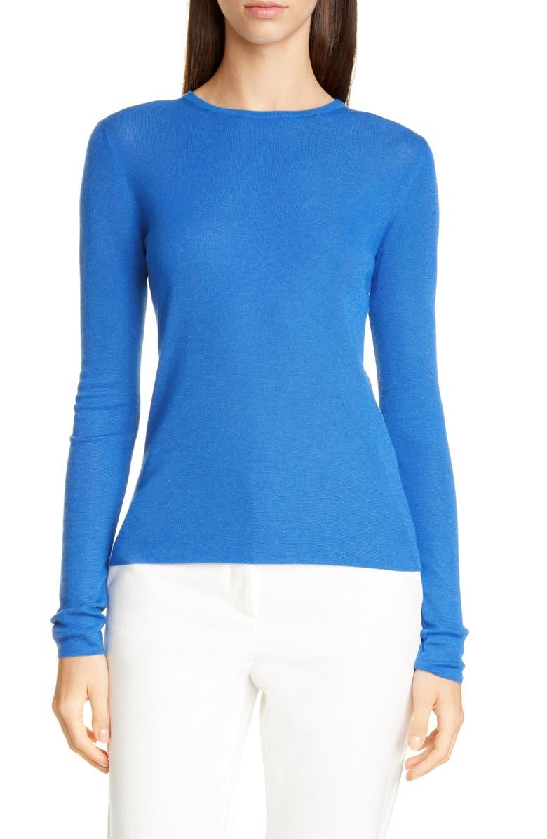 ST. JOHN COLLECTION Cashmere & Silk Sweater, Main, color, SCUBA BLUE