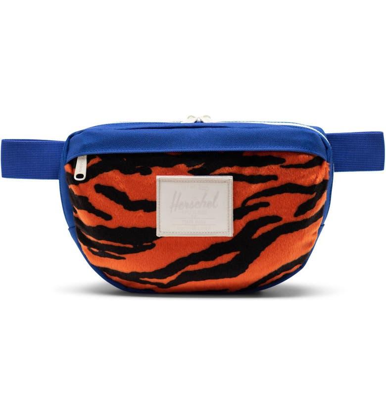 HERSCHEL SUPPLY CO. Nineteen Belt Bag, Main, color, TIGER/ ROYAL BLUE