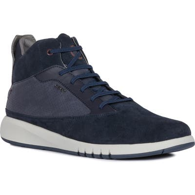 Geox Aerantis 5 High-Top Sneaker - Blue
