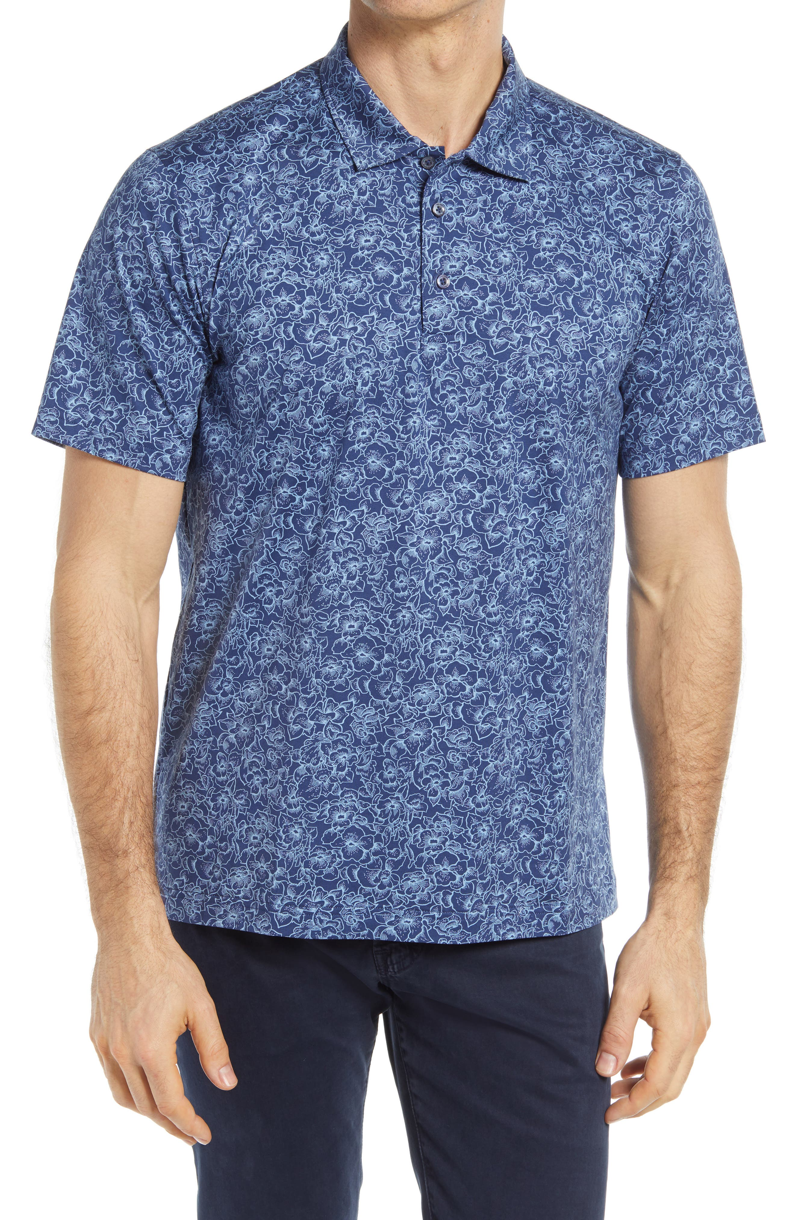 Ooohcotton Tech Floral Knit Polo