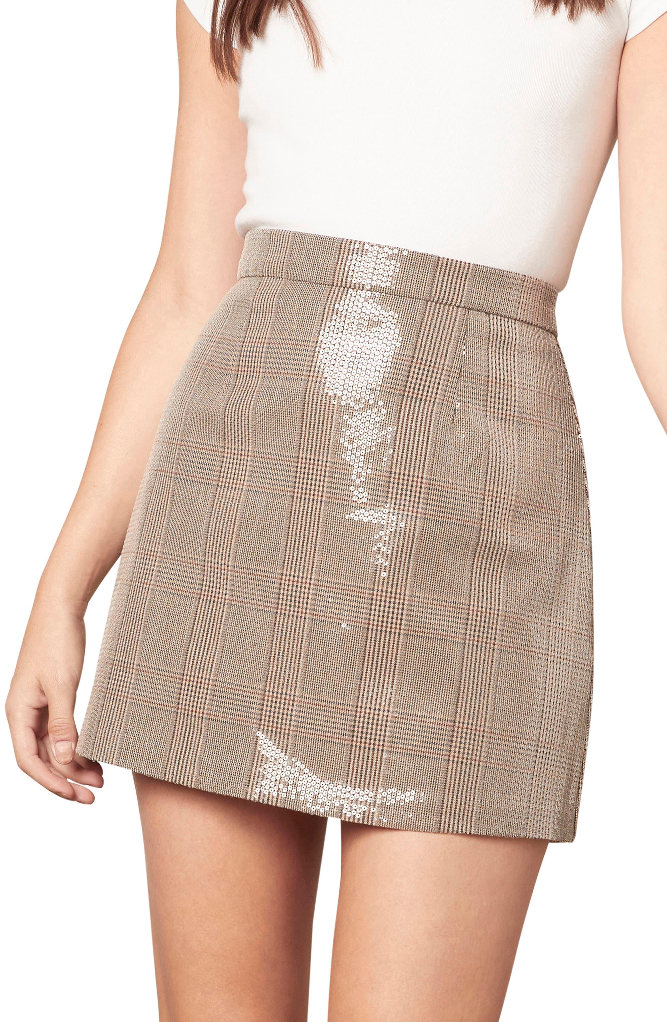 Jami Sequin Plaid Skirt