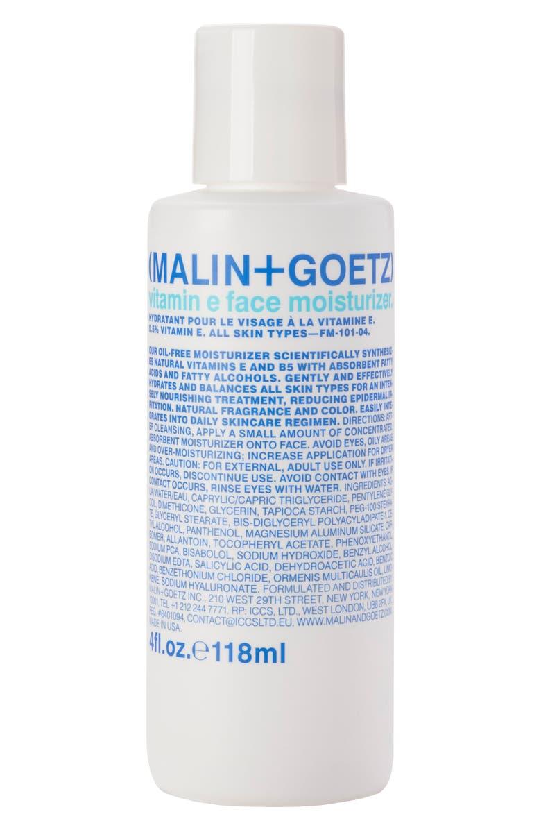 MALIN+GOETZ Vitamin E Face Moisturizer, Main, color, NO COLOR