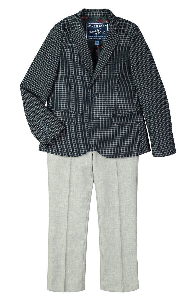 ANDY & EVAN Solid Suit, Main, color, DARK BLUE