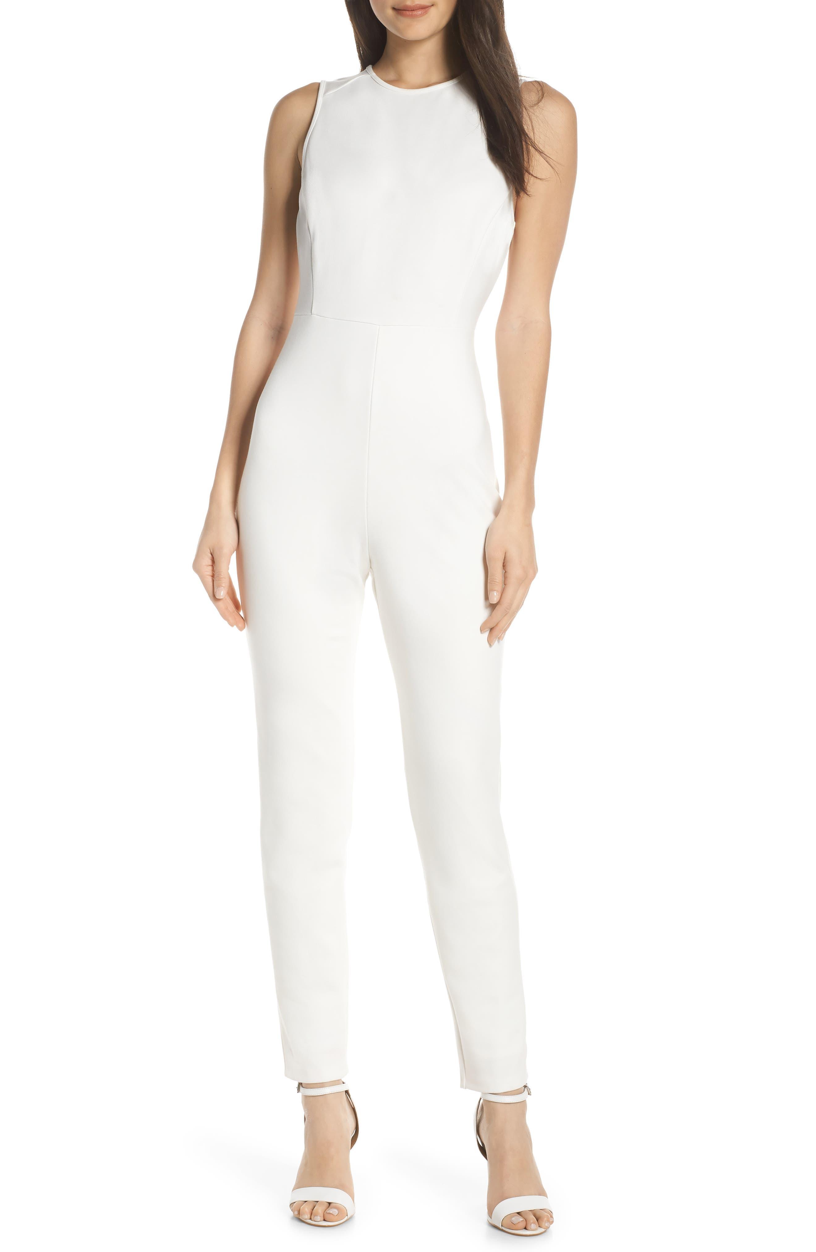Sundae Lula Sleeveless Jumpsuit, Main, color, SUMMER WHITE