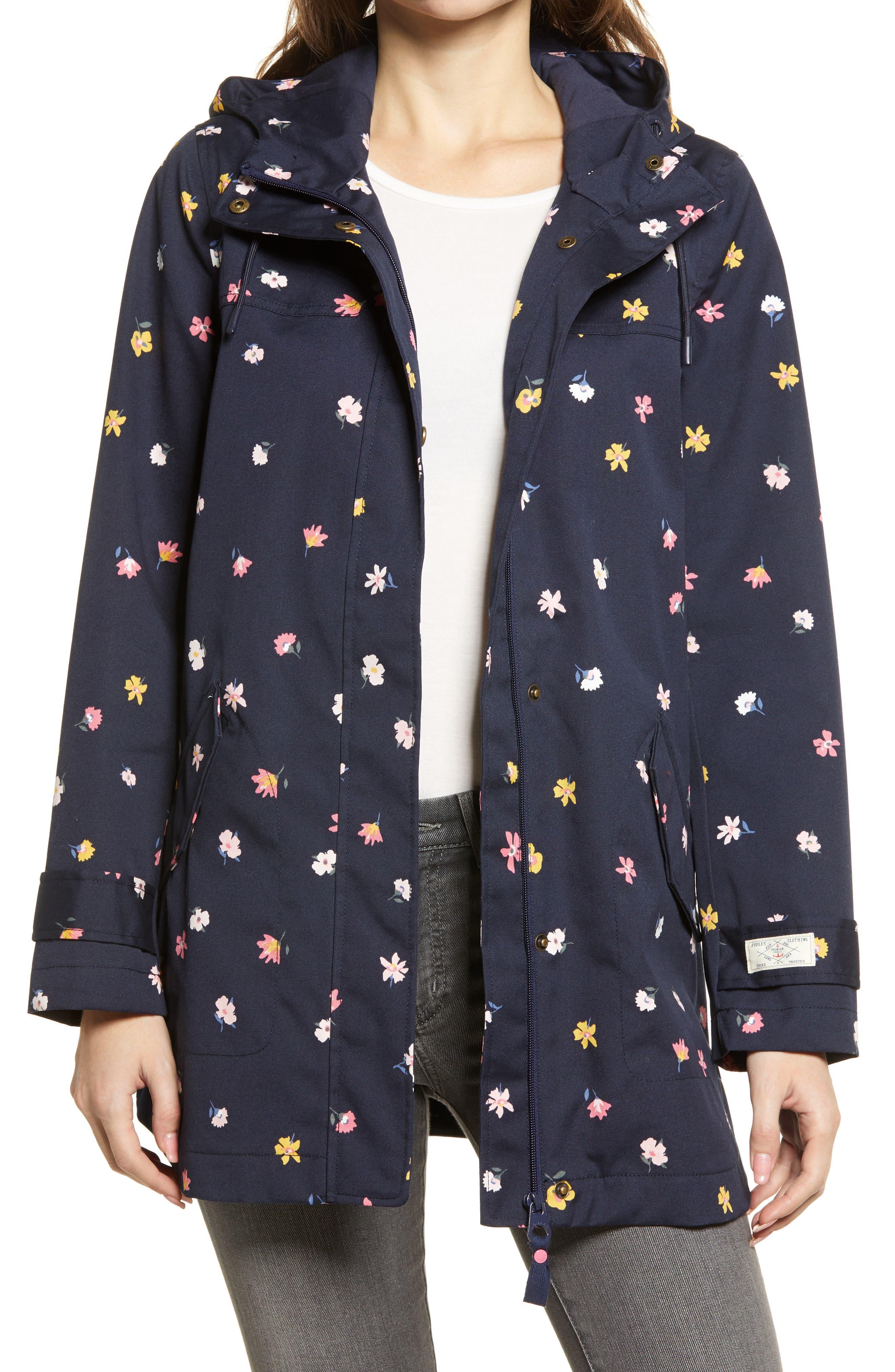 Coast Waterproof Floral Hooded Raincoat