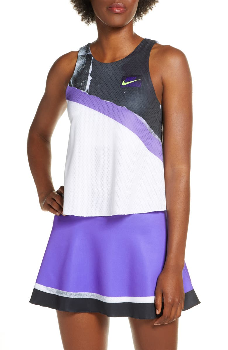NIKE Court 2-in-1 Tennis Tank, Main, color, WHITE/ COURT PURPLE
