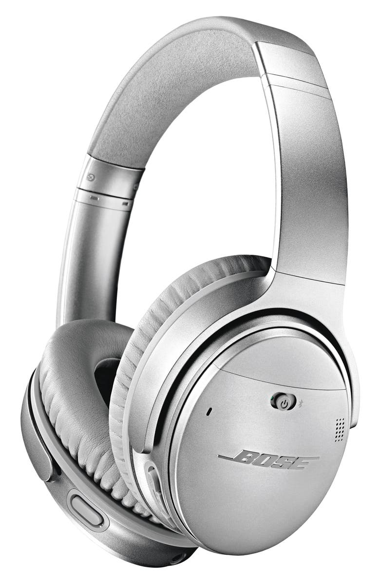 BOSE<SUP>®</SUP> QuietComfort<sup>®</sup> 35 Wireless Over-Ear Headphones II with Google Assistant, Main, color, SILVER