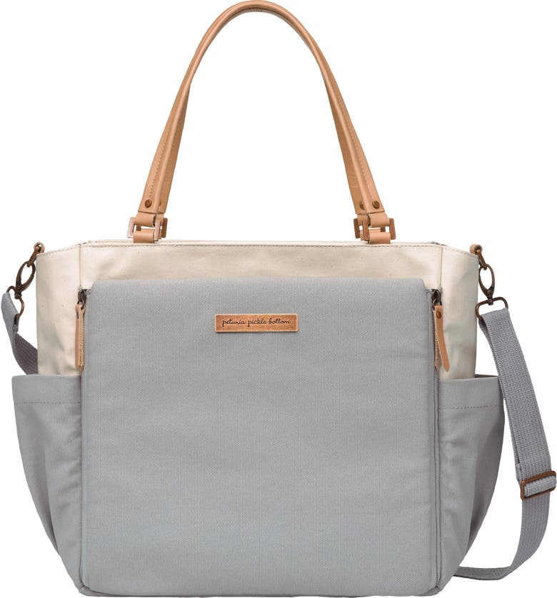 PETUNIA PICKLE BOTTOM City Carryall Diaper Bag, Main, color, BIRCH/ STONE