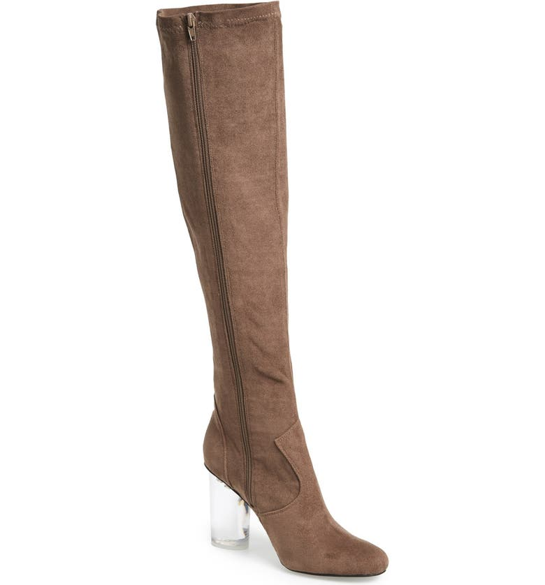 JEFFREY CAMPBELL 'Verite' Tall Boot, Main, color, TAUPE SUEDE