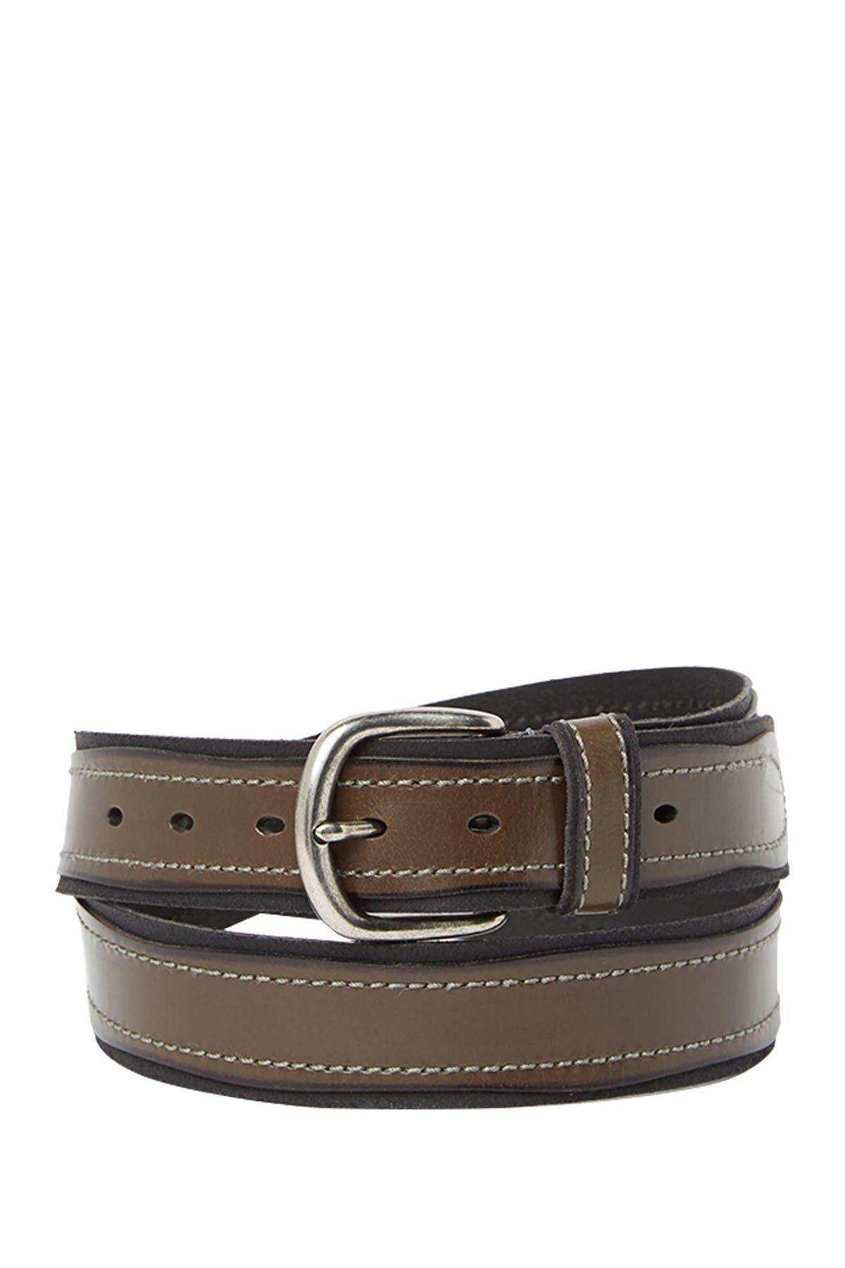 Image of John Varvatos Collection Pop Suede Leather Belt