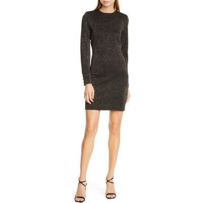 Veronica Beard Sharon Metallic Long Sleeve Sweater Dress, Black