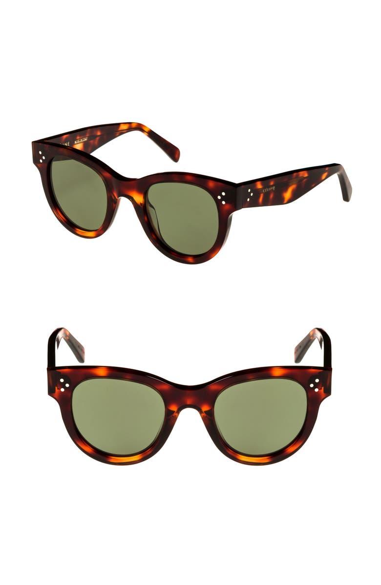 CELINE Mineral 48mm Cat Eye Sunglasses, Main, color, HAVANA/ SMOKE BARBERINI