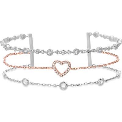 Lesa Michele Triple Strand Cubic Zirconia Bracelet