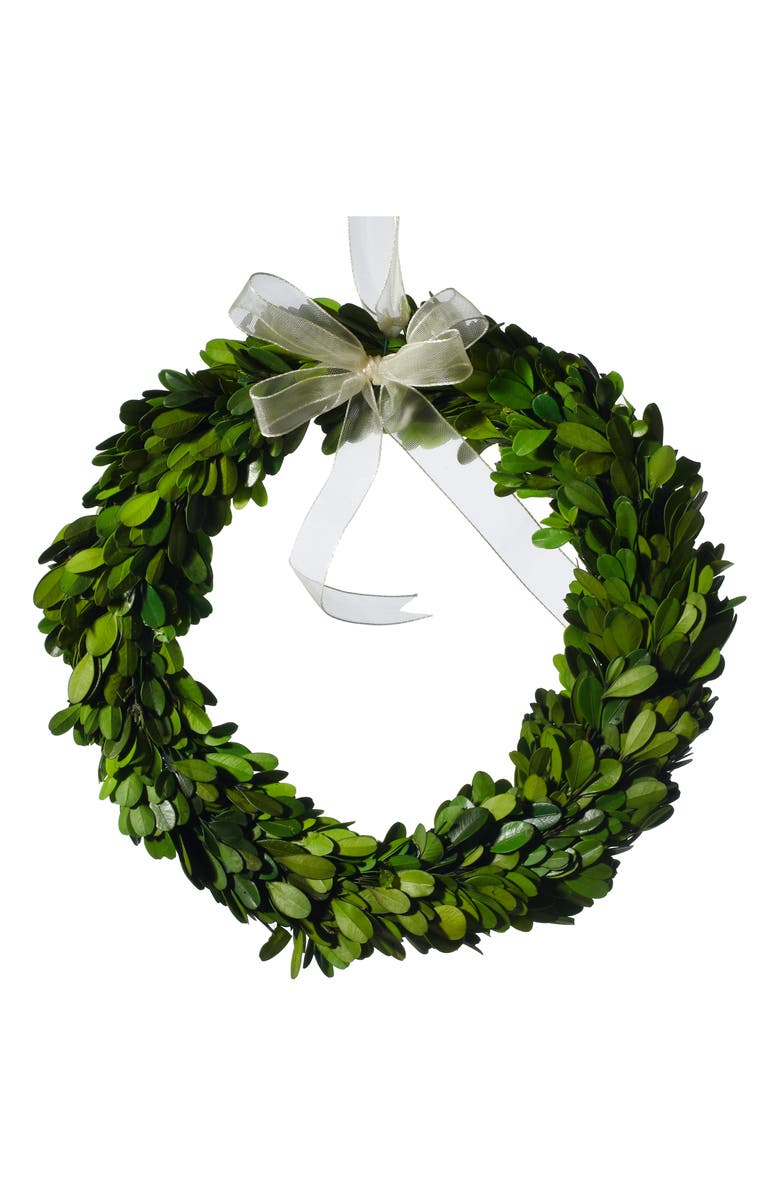 ACCENT DECOR Mini Boxwood Circle Wreath, Main, color, 300