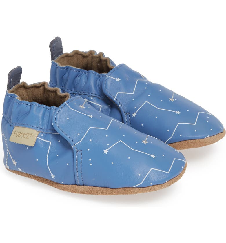 ROBEEZ<SUP>®</SUP> Star Gazer Crib Shoe, Main, color, BLUE