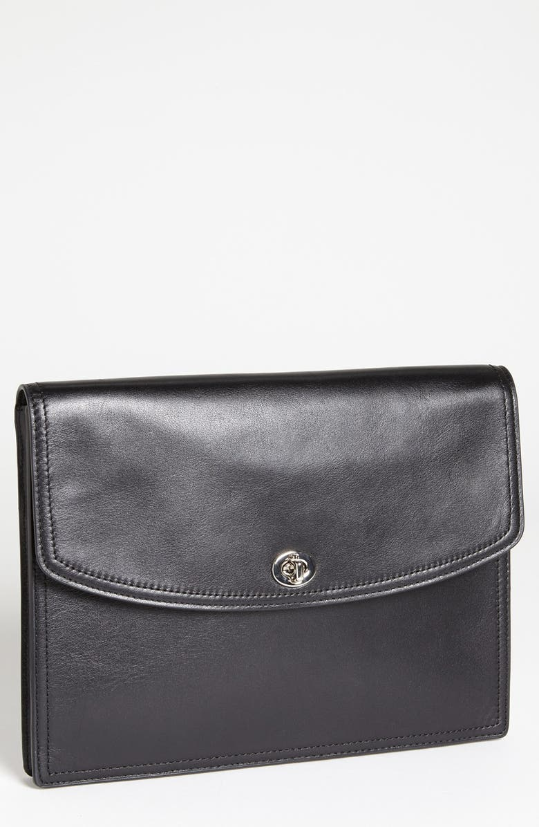 COACH 'Legacy' Leather Universal Tablet Case, Main, color, 045