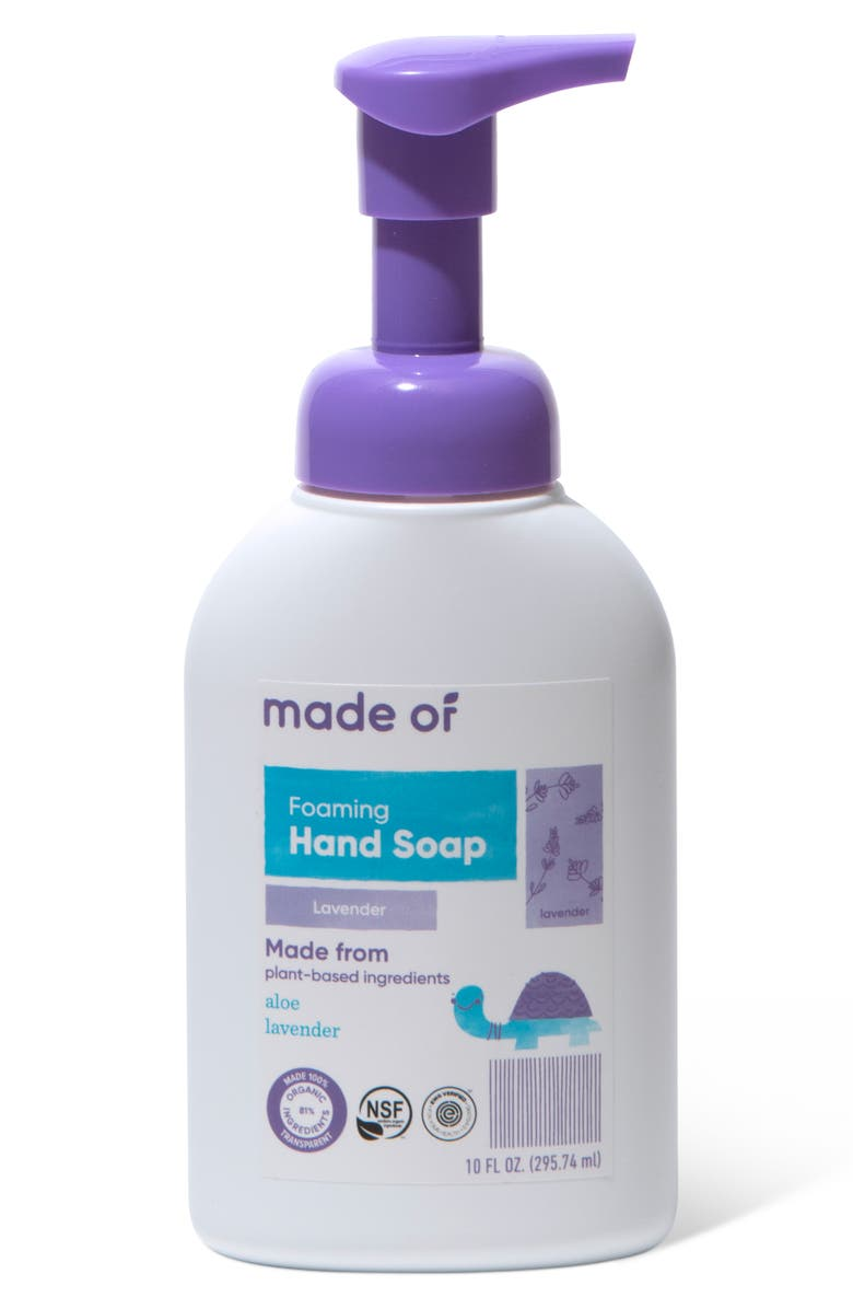 MADE OF Organic Foaming Lavender Hand Soap, Main, color, NO COLOR
