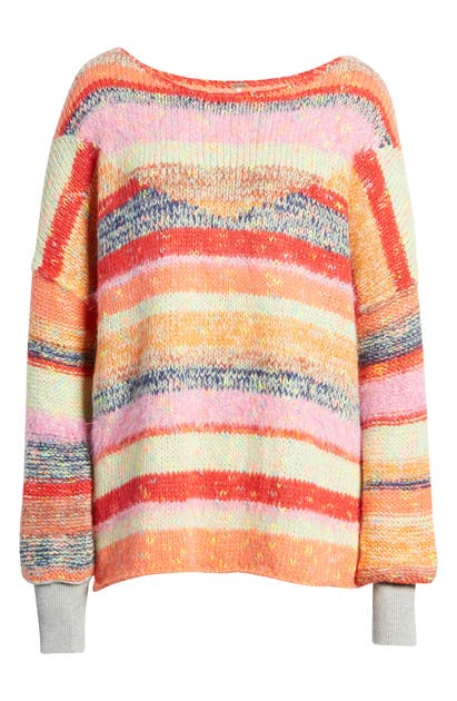 Free People Sweaters STRING LIGHTS OVERSIZE SWEATER