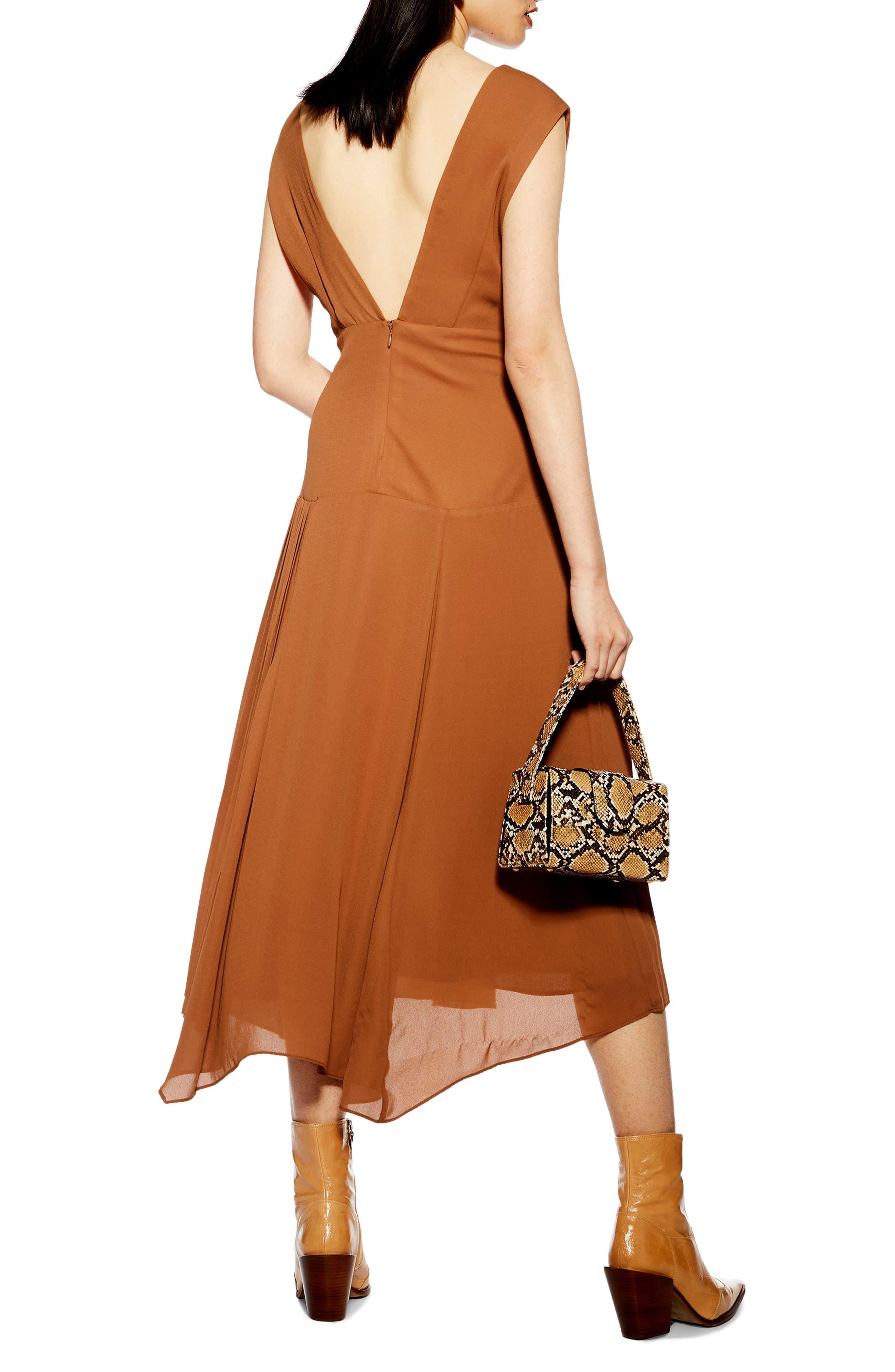 ,                             Pleated Pinafore Midi Dress,                             Alternate thumbnail 7, color,                             200