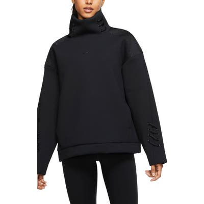 Nike Boutique Knit Pullover Top, Black