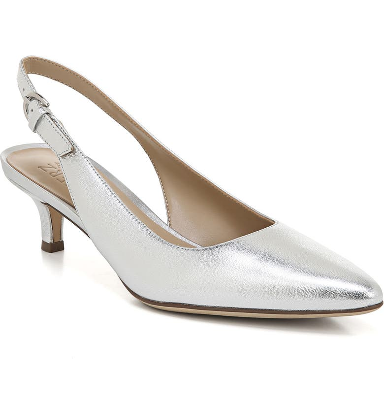 NATURALIZER Peyton Slingback Pump, Main, color, SILVER METALLIC LEATHER