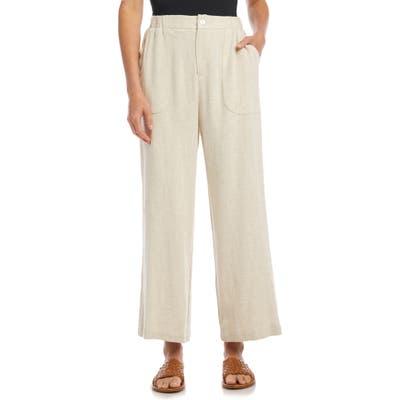 Karen Kane Crop Wide Leg Trousers, Ivory