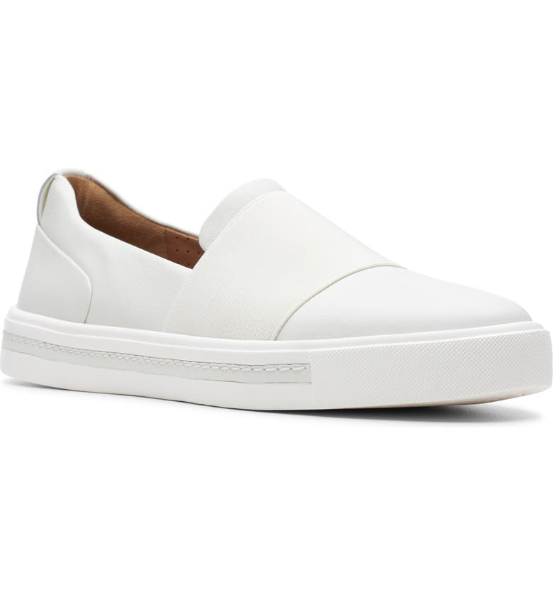 CLARKS<SUP>®</SUP> Un Maui Step Sneaker, Main, color, WHITE LEATHER