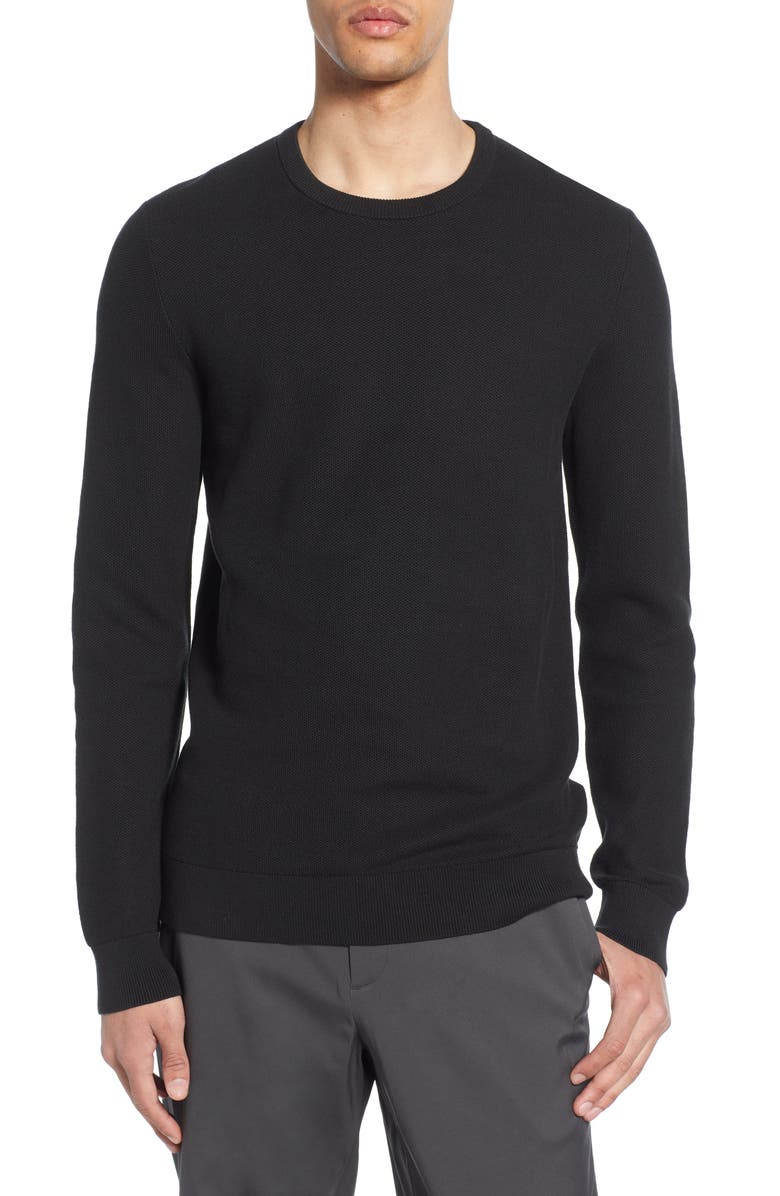 THEORY Riland Breac Regular Fit Sweater, Main, color, 001