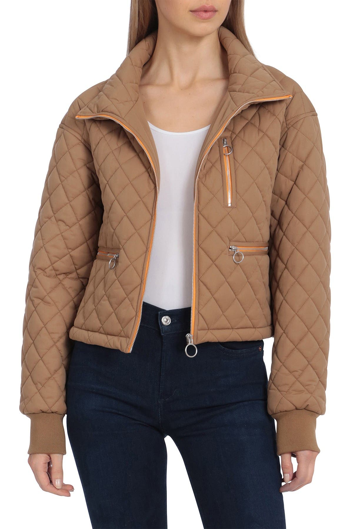Image of AVEC LES FILLES Water Repellent Diamond Quilted Jacket