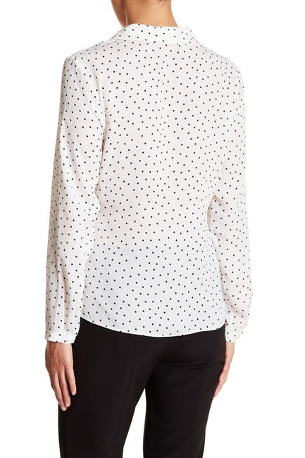 Image of Adrianna Papell Surplice Long Sleeve Blouse