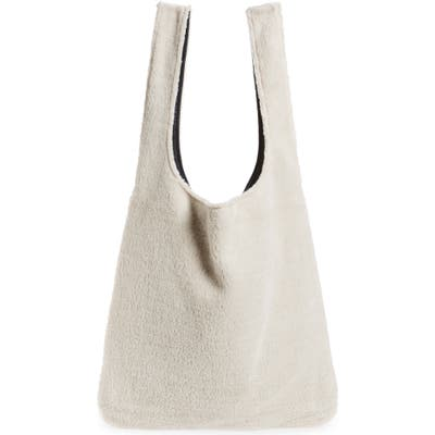 Eileen Fisher Reversible Recycled Polyester Fleece & Recycled Nylon Tote - White (Unisex) (Nordstrom Exclusive)